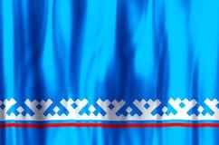 De het Autonome District yamal-Nenets kleurrijke golven en illustratie van de close-upvlag stock illustratie