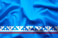 De het Autonome District yamal-Nenets kleurrijke golven en illustratie van de close-upvlag vector illustratie