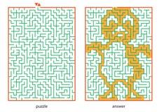 Labyrint Stock Afbeeldingen