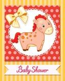 De het beeldverhaalglimlach van het babypaard isoleerde eenvoudige vector Royalty-vrije Stock Afbeeldingen