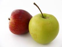 De het best gemengde beelden van het appelfruit voor verpakking en sap pakken Stock Afbeeldingen
