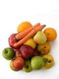 De het best gemengde beelden van het de winterfruit voor verpakking en vruchtensap pakken Stock Fotografie