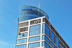 De het bureaubouw van de Citibank Stock Foto's