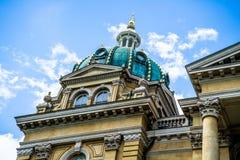 De het Capitoolbouw van de staat in Des Moines Iowa Royalty-vrije Stock Foto