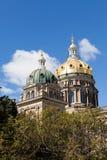 De het Capitoolbouw van de Staat van Iowa, Des moines Stock Foto's