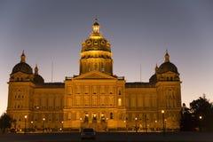 De het Capitoolbouw van de Staat van Iowa in Des Moines stock foto