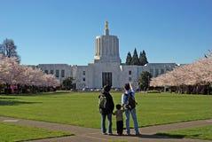 De het Capitoolbouw van de Staat van Oregon. Stock Afbeeldingen