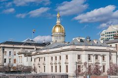 De het Capitoolbouw van New Jersey in Trenton royalty-vrije stock foto's