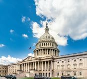 De het Capitoolbouw van Verenigde Staten in Washington DC - de Voorgevel van het Oosten van het beroemde oriëntatiepunt van de V. royalty-vrije stock foto's