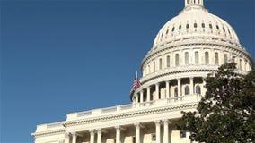 De het Capitoolbouw van Verenigde Staten, Washington, gelijkstroom stock videobeelden