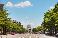 De het Capitoolbouw van Verenigde Staten in Washington, gelijkstroom stock afbeelding