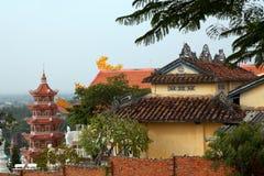 De het Chinese Dak en Pagode van de Tempel royalty-vrije stock foto