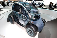 De het conceptenauto van Renault ZE Royalty-vrije Stock Afbeelding