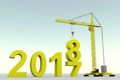 de het conceptenbouw van 2018 Stock Foto