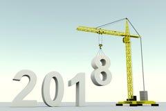 de het conceptenbouw van 2018 Stock Foto's