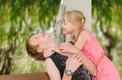 De het eerste gevoel en emoties van kinderen Stock Fotografie