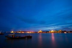 De het eilandnacht van Gulangyu scape xiamen binnen van China royalty-vrije stock afbeeldingen