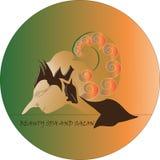 De het embleemvector van dewisrikandi royalty-vrije illustratie
