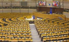 De het Europees Parlement halve cirkel Stock Fotografie