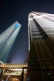De het Financiële Centrum van de Wereld van Shanghai en Toren van Jin Mao Stock Foto's