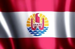 De het Franse polynesia kleurrijke golven en illustratie van de close-upvlag stock illustratie
