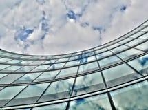 De het glasbouw van Curvy Royalty-vrije Stock Afbeeldingen