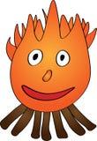 De het glimlachen brand - Illustratie royalty-vrije stock foto