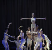 De het godin-oosten van de klassengraduatie van China Jiaotong Universitaire -2011 dansende het Overlegpartij Royalty-vrije Stock Foto's