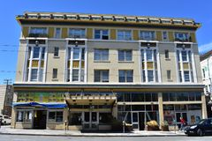 De het Hotel en de Opdrachtwoonwijk van Altamont stock afbeelding