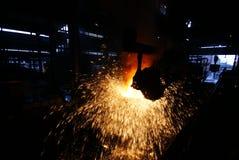 De het ijzerwerken van de staalfabricage Stock Afbeeldingen