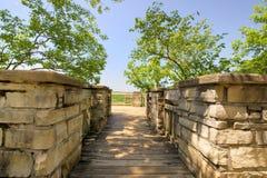 De het kasteelruïnes van Ha Ha Tonka overzien royalty-vrije stock afbeelding