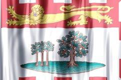 De het kleurrijke golven van Prins Edward Eilanden en illustratie van de close-upvlag royalty-vrije illustratie