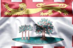 De het kleurrijke golven van Prins Edward Eilanden en illustratie van de close-upvlag vector illustratie