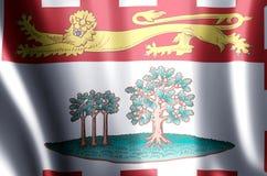 De het kleurrijke golven van Prins Edward Eilanden en illustratie van de close-upvlag stock illustratie