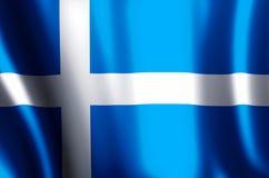 De het kleurrijke golven van Shetland en illustratie van de close-upvlag royalty-vrije illustratie