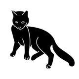 De het liggen kat Royalty-vrije Stock Foto's
