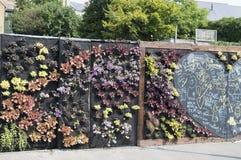 De het Luisteren Muur, een communautair project in Margate, Kent Stock Afbeeldingen