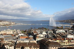 De het meer en fontein van Genève Royalty-vrije Stock Foto's