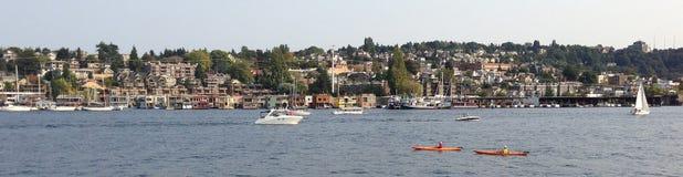 De het meerunie van de binnenstad van Seattle, boot royalty-vrije stock afbeelding