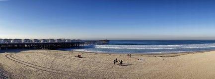 De het noordenkant van de Vreedzame Strandpijler in San Diego Royalty-vrije Stock Foto