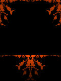 De het Oranje Frame/Achtergrond van Grunge vector illustratie