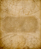 De het oude malplaatje of achtergrond van de kaartdekking Royalty-vrije Stock Foto