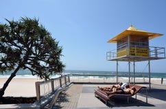 De het Paradijs Gouden Kust Australië van Promenadesurfers Royalty-vrije Stock Afbeeldingen