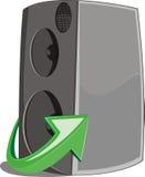 De het pictogram witn pijl van de spreker zingt Royalty-vrije Stock Afbeelding