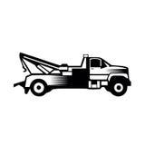 De het pictogramvector van de slepenvrachtwagen vulde vlak geïsoleerd teken stevig pictogram Stock Afbeelding