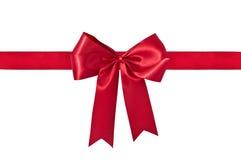 De het rode Lint & Boog van de Gift Stock Fotografie