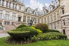 De het stadhuisbouw van heilige Gilles in Brussel stock afbeelding