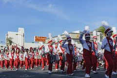 De de het teamvlotter en band van Oklahoma tonen van de buitengewone Toernooien van Th Royalty-vrije Stock Afbeeldingen