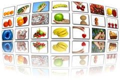 De het themaschermen van het voedsel Stock Afbeeldingen