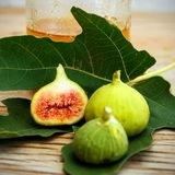 De het uitstekende canvas en affiche van het fig.fruit Stock Fotografie